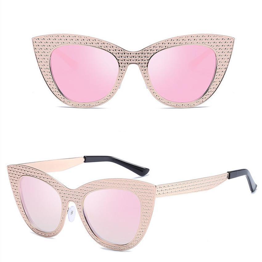4be085bbff5 Frame Cat Eye Sunglasses Women Ladies Fashion Brand Designer Mirror ...