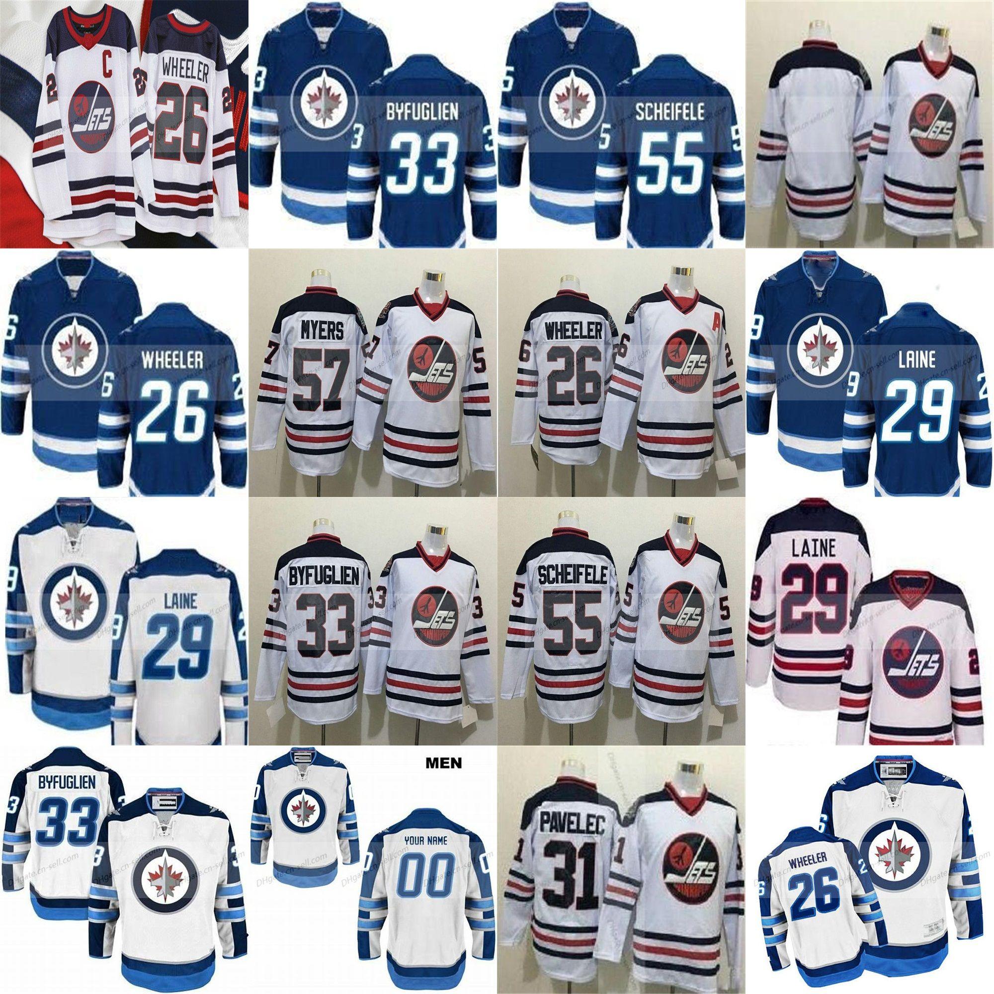 3b927551b 2019 2019 New Heritage Classic Winnipeg Jets 29 Patrik Laine Custom Men  Lady Kids Blake Wheeler Dustin Byfuglien 55 Mark Scheifele Hockey Jerseys  From Cn ...