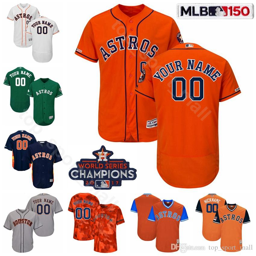 sports shoes 9f352 36d87 Houston Baseball Astros 27 Jose Altuve Jersey Flexbase 4 George Springer 1  Carlos Correa 23 Michael Brantley 10 Yuli Gurriel 2 Alex Bregman