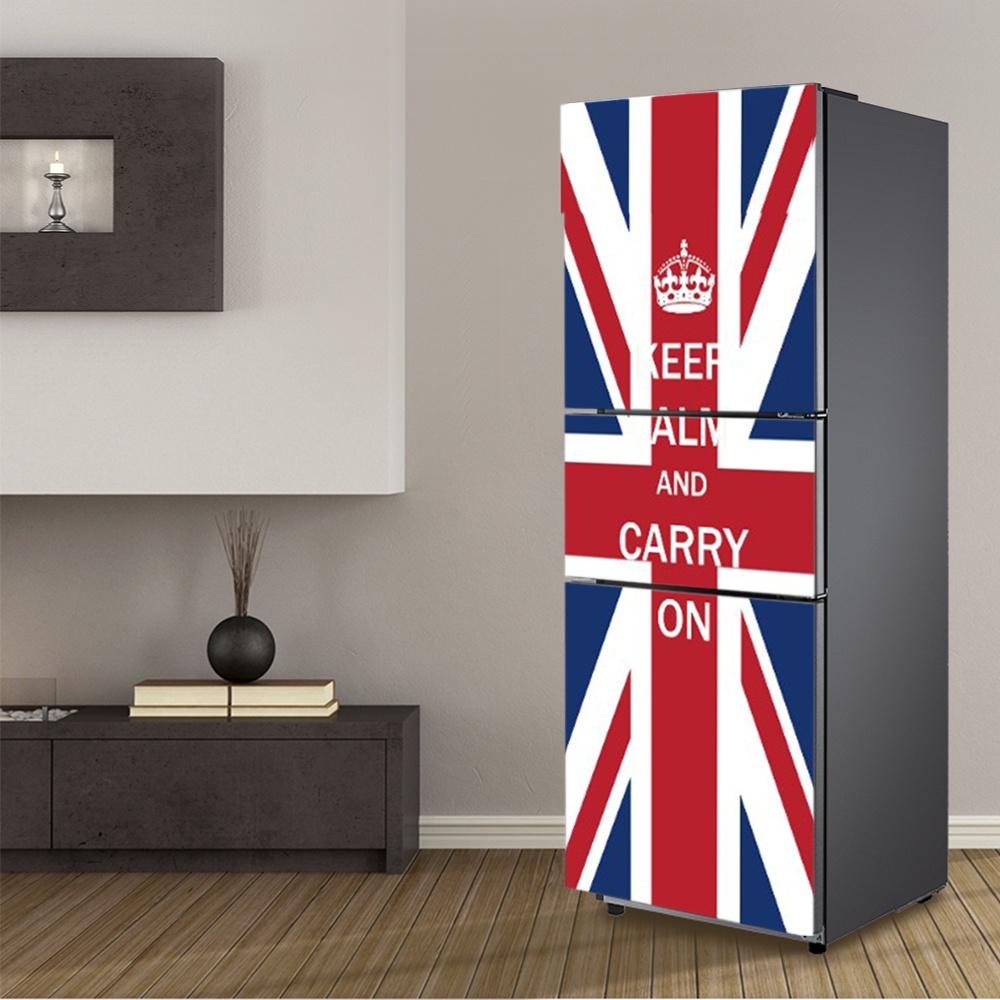 Fridge Wrap UK Flag Removable Self Adhesive Vinyl Peel And Stick Decal Wallpaper Bedroom Stickers For Walls From Lovercolor