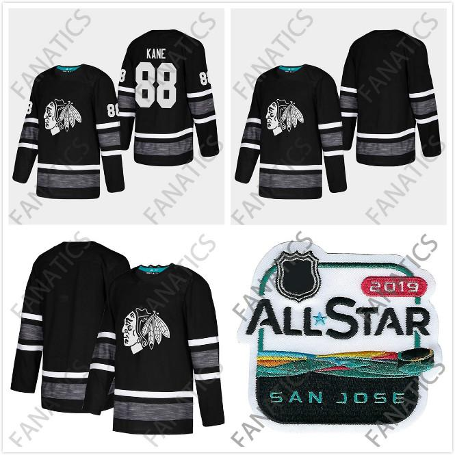 save off da778 d6546 Cheap 2019 All Star Jersey Chicago Blackhawks Men 88 Patrick Kane Black  Blank Top Quality 2019 All Star Patch Hockey Jersey