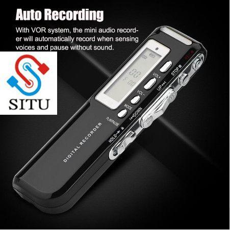 Digital Voice Recorder Pen Multi Language 8GB Memory Auto