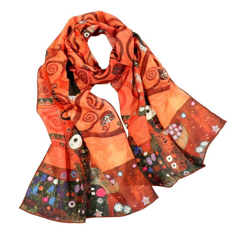 abc05428f52 Tony&Candice Women s 100% Silk Shawl Female Pure Silk Scarves Wraps Long  Beach Cover-ups Fashion Oil Ladies Wrap Wholesale