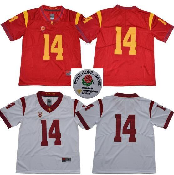 f34bd9bb7 2019 NCAA USC Trojans  14 Sam Darnold 32 O.J. Simpson Men S Red White  College Football Limited Stitched Jerseys From Hellomicki