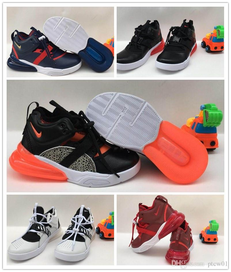 uk availability 1f2c7 88b72 Nike Air Force 270 youth Running Shoes kid Sneakers air 27c run outdoor  Sports shoe 270s Trainer Air Cushion Surface size 28-35