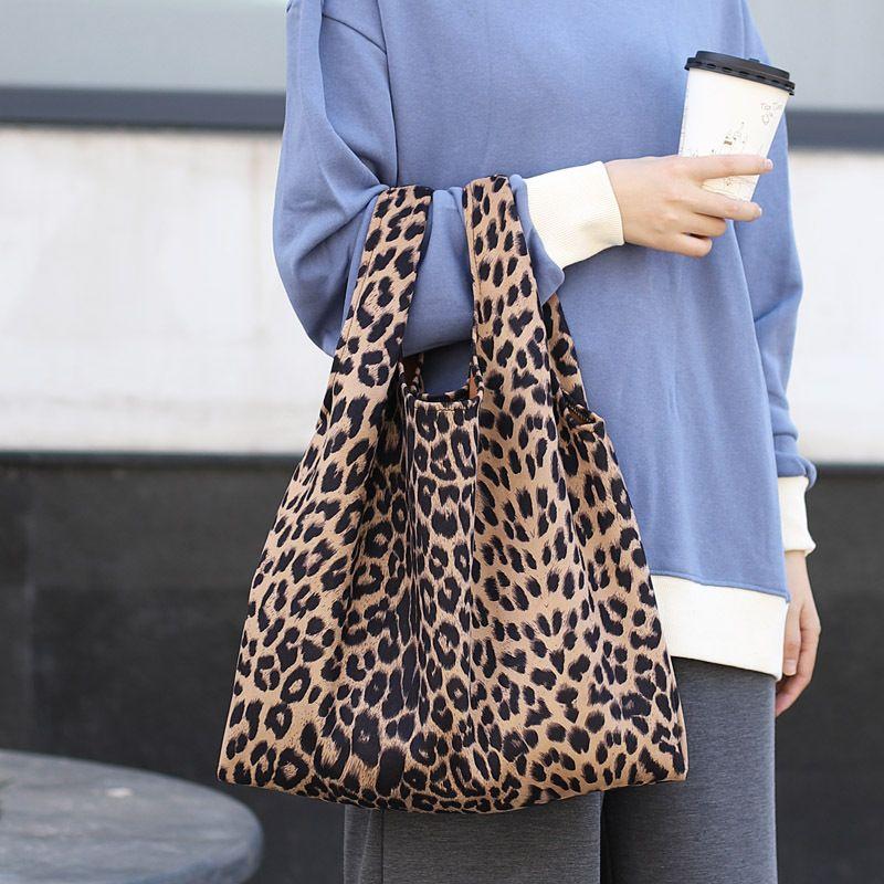 2019 Fashion Korean Version Wild Leopard Pattern Handbag Fashion Retro  Canvas Bag Autumn And Winter Simple Hipster Hand Bags Shopping Bag Satchel  Bags Man ... 66862e96ed06c
