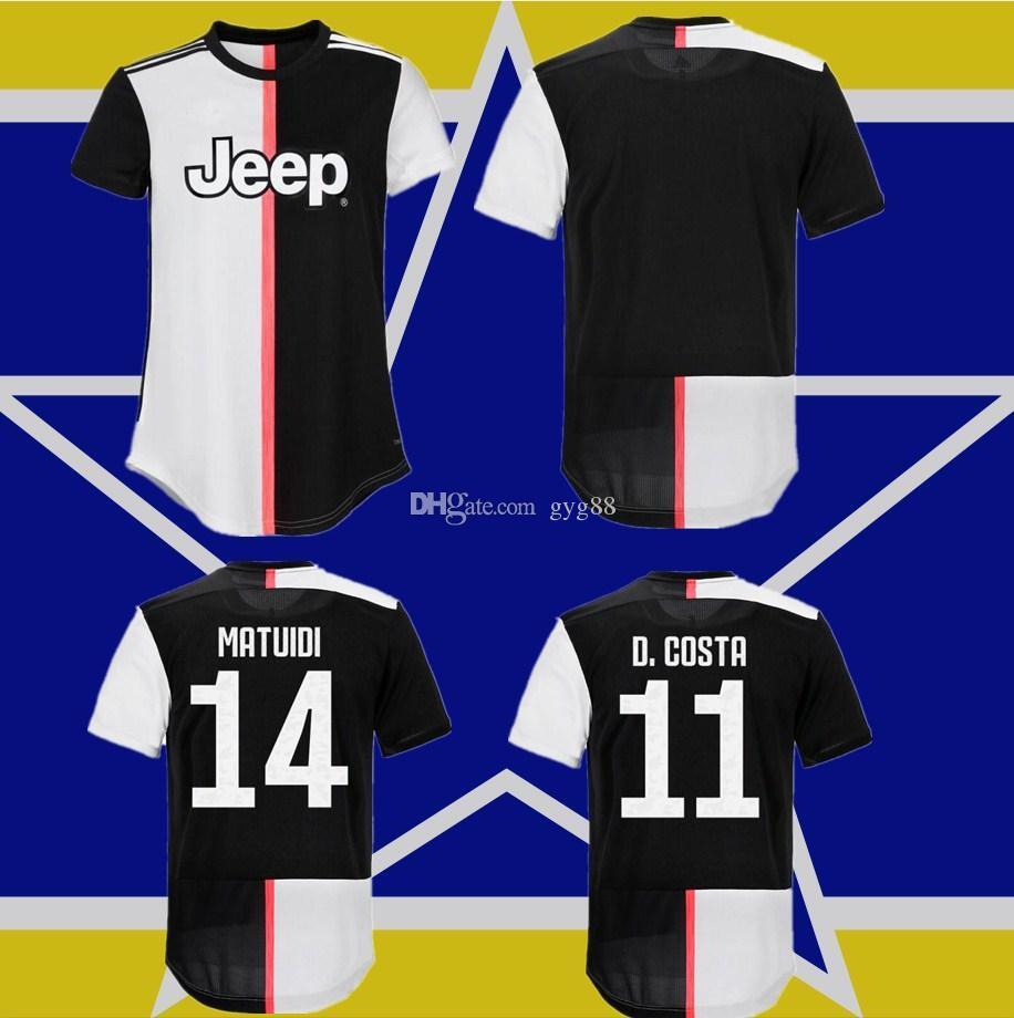 buy popular 8c9ff ecd2b Player Version Juventus Soccer Jersey football shirt 2019 2020 RONALDO 18  19 20 uniforms champions Bernardeschi DYBALA JUVE
