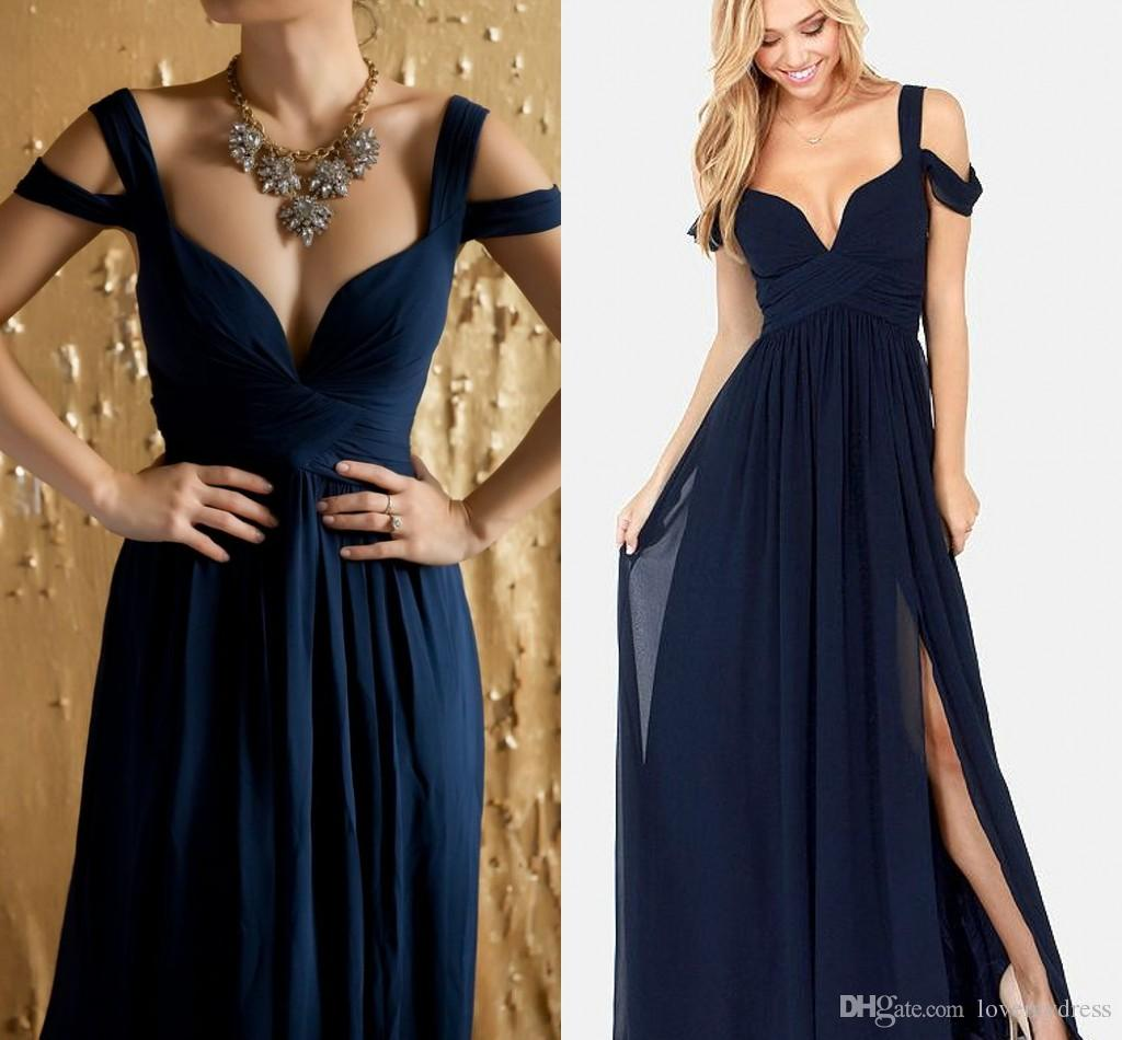a17d6a61c548d Cold Shoulder Pleats Cheap Bridesmaid Dresses Long 2019 Ruched Draped  Chiffon Maid Of Honor Dress Wedding Guest Dresses Party Formal Gowns