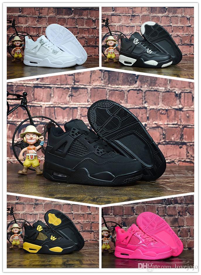 269eb08bc0 Compre 2019 Zapatos Para Niños 4 Niños Zapatos De Baloncesto Niños Y Niñas  Niños 4s Deportes Baloncesto Zapatillas De Deporte Zapatos Zapatillas De  Deporte ...