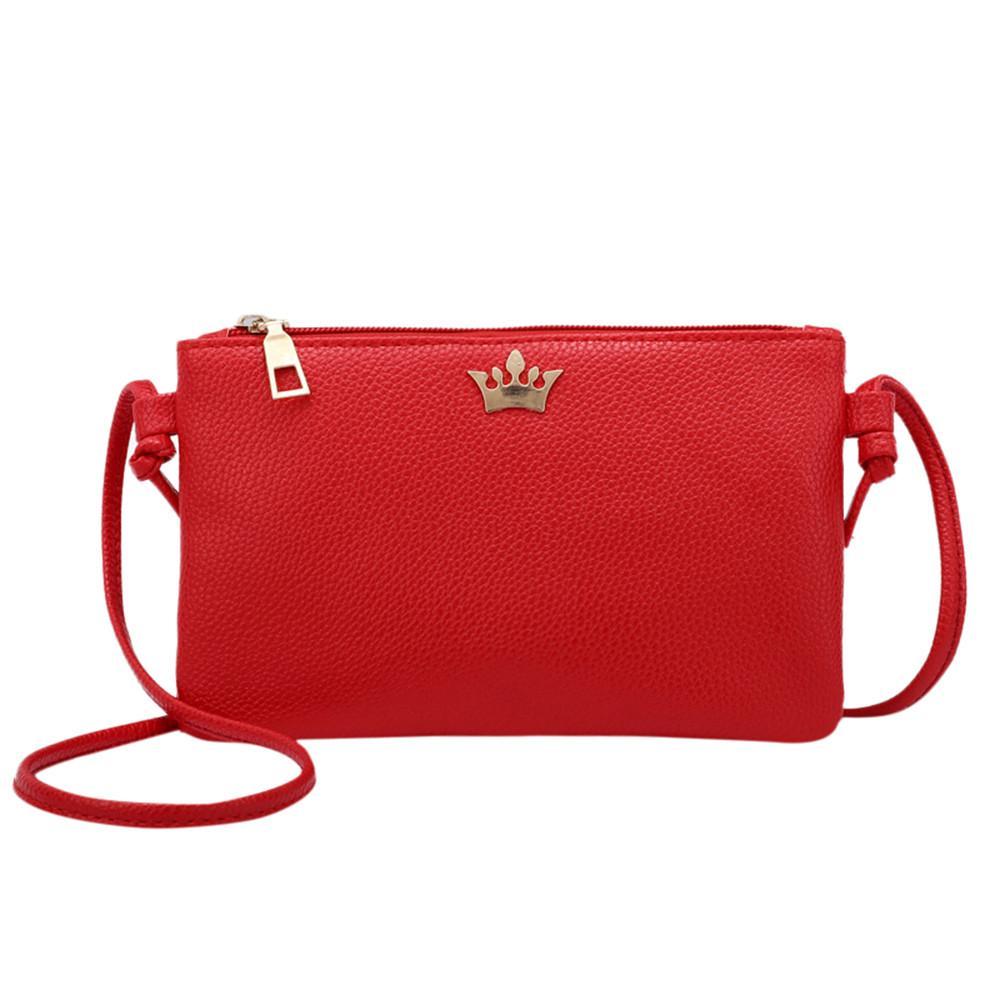 1e0931e8163a MUQGEW Womens Leather Crossbody Bag Pure Color Shoulder Bags ...