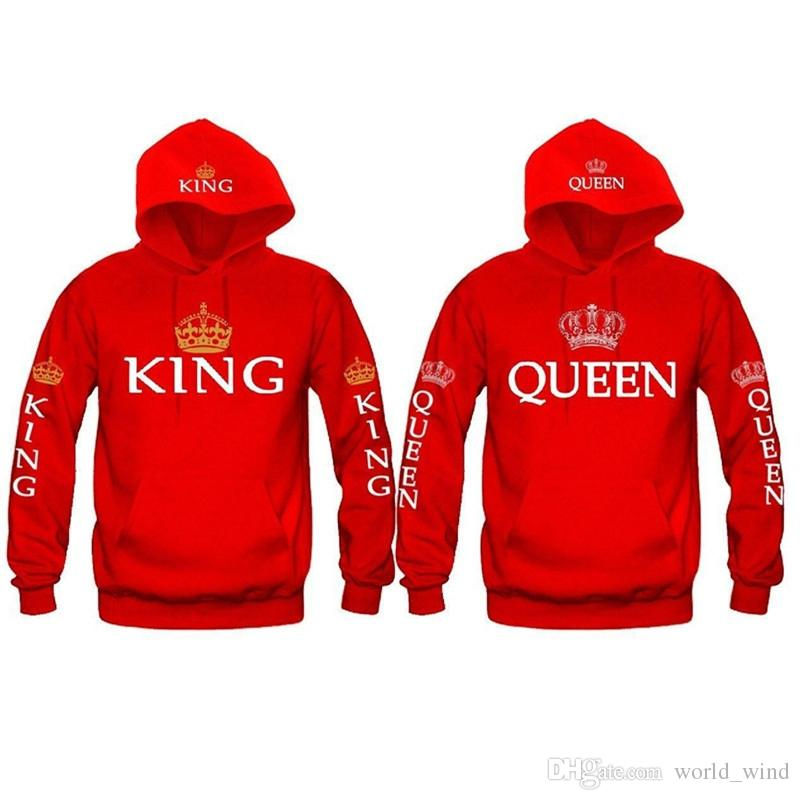 1c0c66980c 2019 Women Men Hoodies King Queen Printed Sweatshirt Lovers Couples Hoodie  Hooded Sweatshirt Casual Pullovers Tracksuits KH930042 #399797 From  World_wind, ...