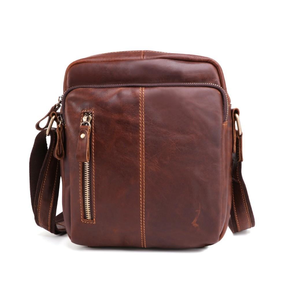Vintage Men Flap Genuine Leather Men s Shoulder Bag Male Handbags Bolsas Crossbody  Bag Tas Sling Tote Travel for Small Chest Crossbody Bags Cheap Crossbody ... e19d8fd1f4ca2