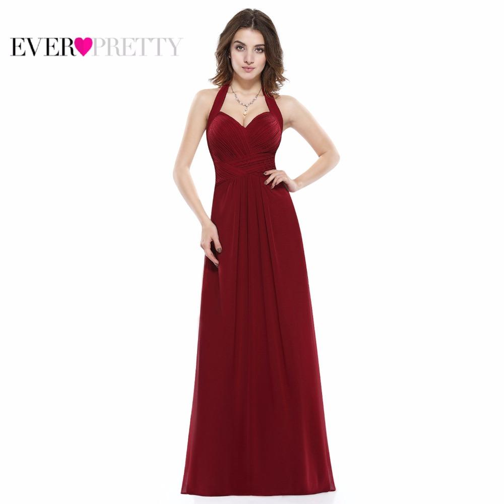 Image result for Bridesmaid Dresses Long Halter Chiffon Aline Prom Formal Wedding Party Dress Womens