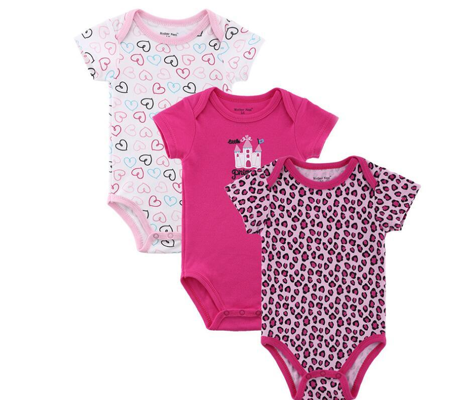 4340a63b8eae Newborn 100% Cotton Bodysuits Kids Unisex Short Sleeve Jumpsuit Boy ...