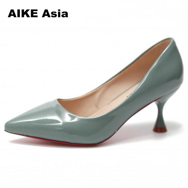 f25e026cc0 Designer Dress Shoes 2019 Women Pumps High Heels Pointed Toe Female Wedding  Sexy Heel For Women Shallow Spike Heels Spring/Autumn Walking Shoes Flat  Shoes ...