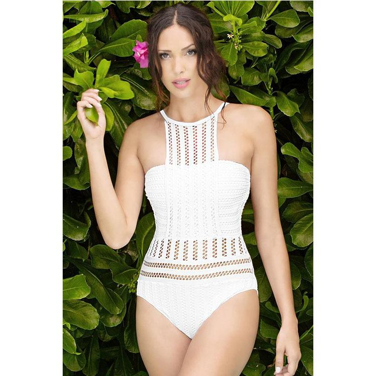 New style swimsuit, sexy European and American net yarn swimsuit, necked ladies swimsuit for cross-border use