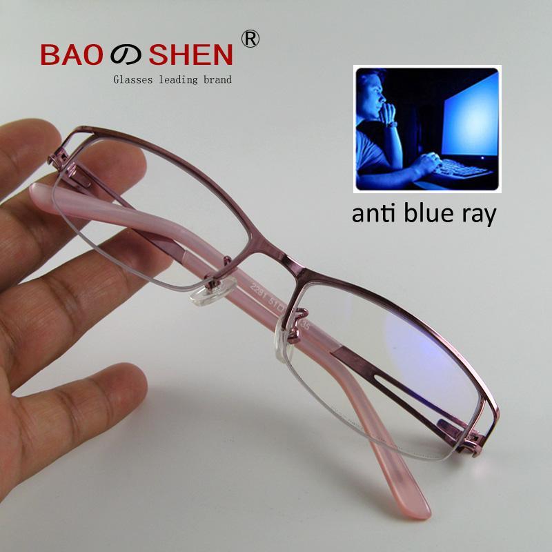 2851a708d94 2019 Blue Light Blocking Glasses Computer Anti Blue Light Anti Radiation  Glasses Flat Light No Degree Decorative Mirror Female Half From Baozhishen