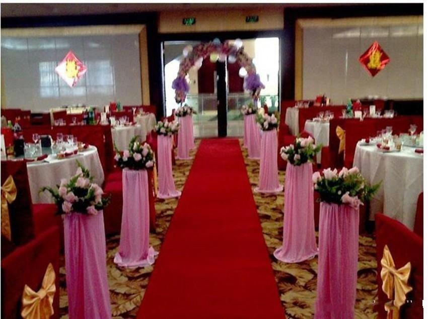 20M/roll New Wedding Centerpieces Favors Red Nonwoven Fabric Carpet Aisle Runner For Wedding Party Decoration Supplies Shooting Props