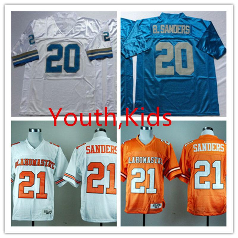 a17574ca10a 2019 Youth NCAA College #21 Barry Sanders Oklahoma State Cowboys Jerseys  Stitched Kids #20 Barry Sanders Detroit Jersey S 3XL From Xt23518, $18.88 |  DHgate.