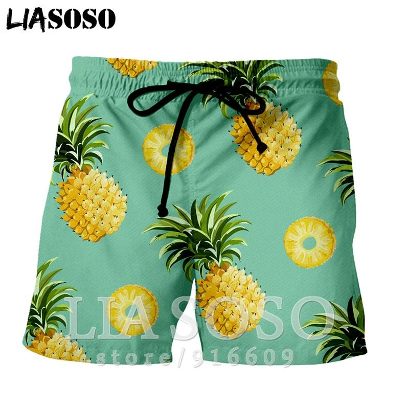Balle mode casual anime rock punk Fruit hommes costume hip-hop ananas femmes pantalons de balle enfants Harajuku Beach Pantalon de survêtement short E830