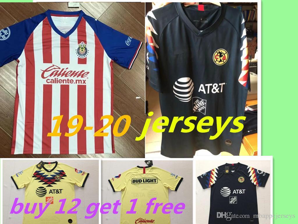 e3e38c5a49b 2019 New 2019 Chivas De Guadalajara Home Jerseys Soccer Jerseys 19 20 MEXICO  Club America Tigres UNAM 2020 LIGA MX Cruz Azul Football Shirts From ...