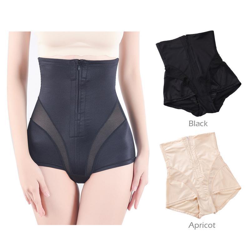 cca1783943d 2019 Women Body Shaper High Waist Slimming Shapewear Pants Zipper Hip Butt  Enhancer Panty Girdles For Women Open Crotch Underwear From Honey333