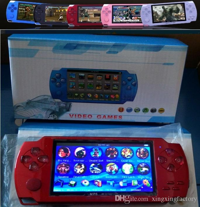 2019 NEW PMP 4GB/8GB handheld Game Console 4 3 inch screen mp4 player MP5  game player real 8GB support for psp game,camera,video,e-book NEW