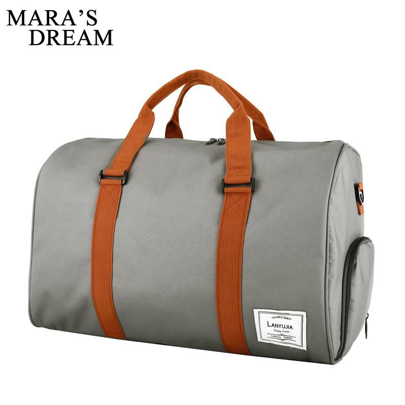 Mara's Dream travel bag large capacity hand travel Men and Women bag casual can fold waterproof Multifunction Men