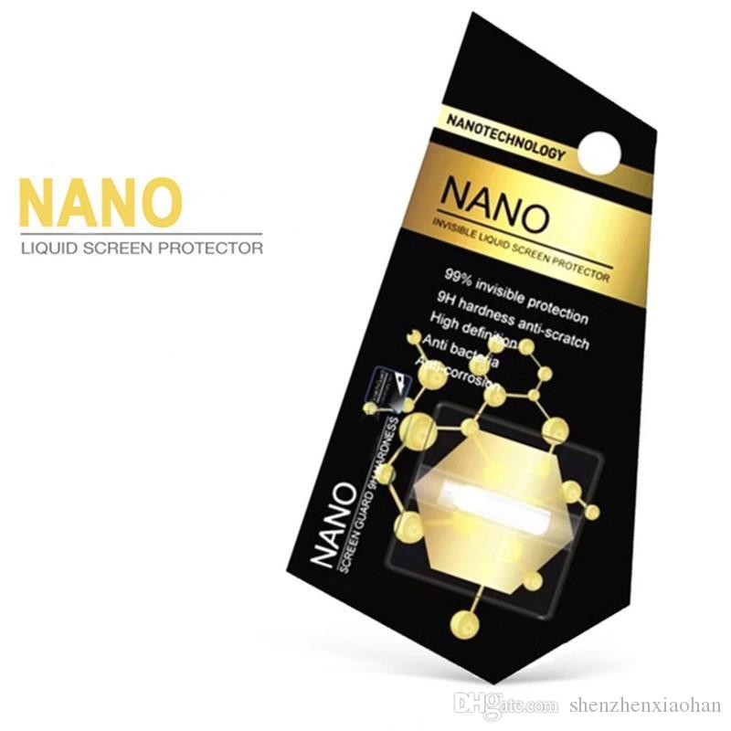 1 ML Liquid Nano Technology Protector de pantalla para iPhone X 7 8 Plus Samsung S8 Plus IPad Air 3D Borde curvo Anti rayado película de vidrio templado
