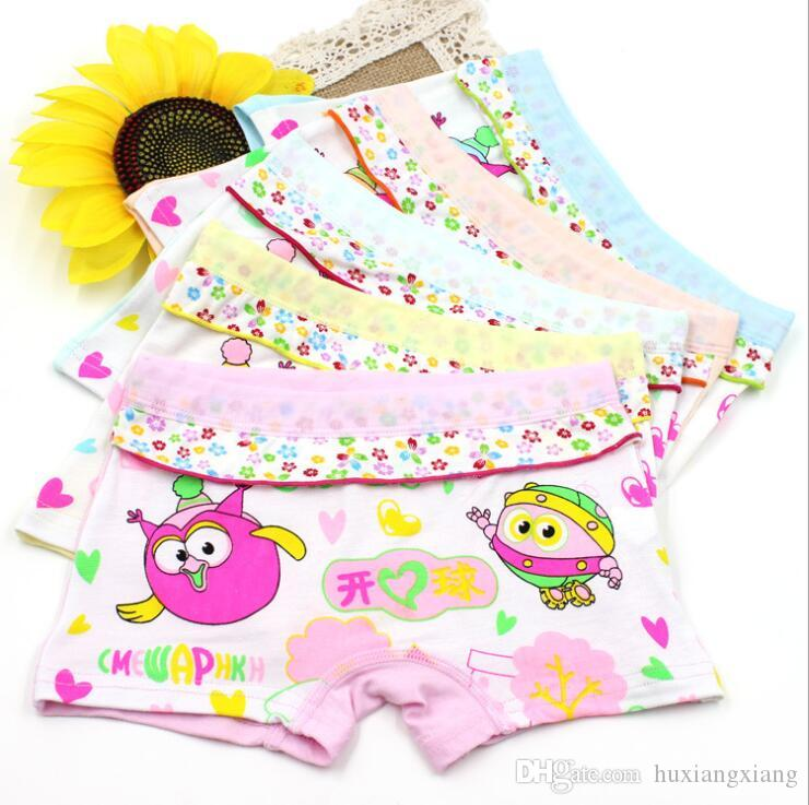 Hot style 10Pcs Girls art print Children s Fashion underwear Girls flat  panties kids underpants Suitable for 3 to 10 year old girls S19JS066