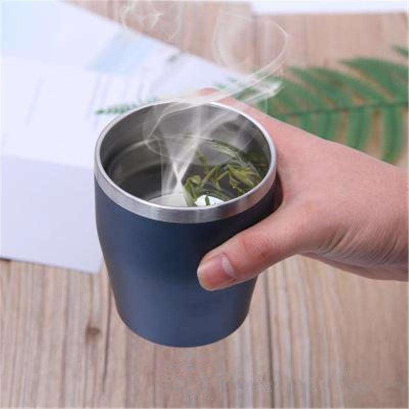 Steel Portable 304 10oz Double Mugs Mug Insulated Vacuum Travel Cups Wall Wine Coffee Stainless Tea Cup Handy Beer hQstdrC
