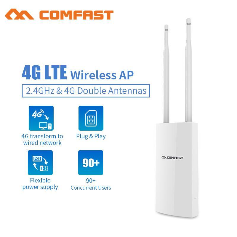 Wireless CPE 4G Wifi Router Outdoor Gateway FDD TDD LTE WCDMA GSM Global  Unlock External 5dbi Antennas SIM Card WAN/LAN Port AP