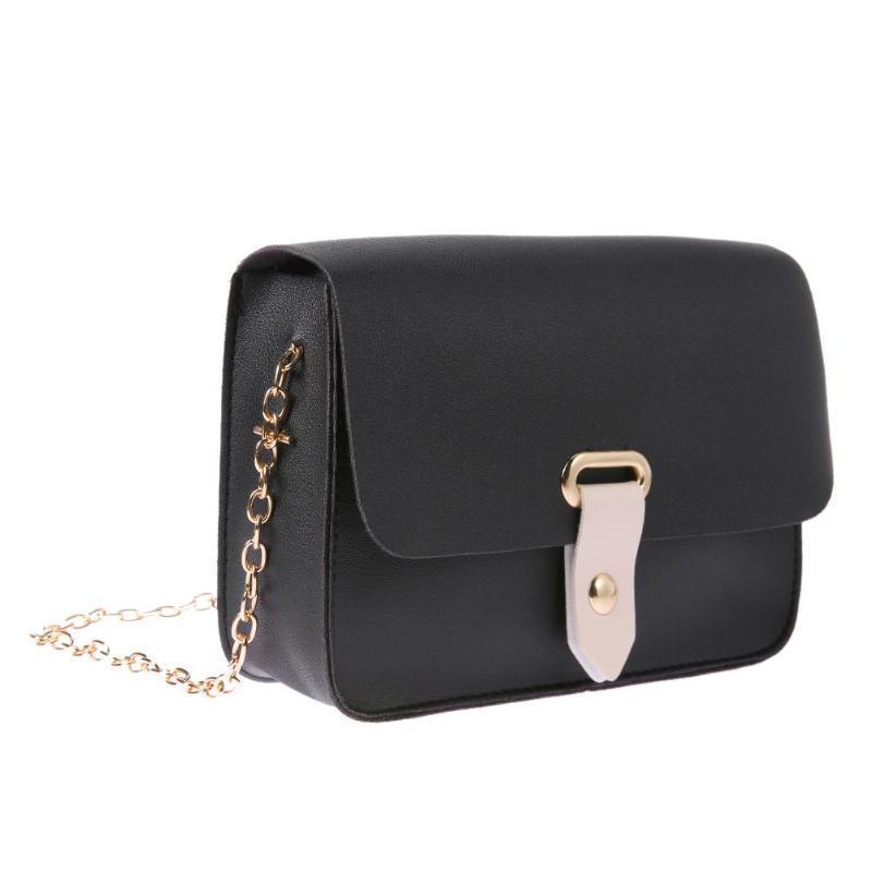 e59341d8eff2 Designer Simple PU Leather Shoulder Bag Women Mini Casual Flap Bag Purses  And Multifunctional Handbags Chain Crossbody Bags For Women Satchel Handbags  ...