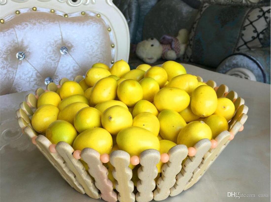 Oggetti In Plastica Per La Casa.Acquista Commercio All Ingrosso Mini Giallo Artificiale Finto Limone