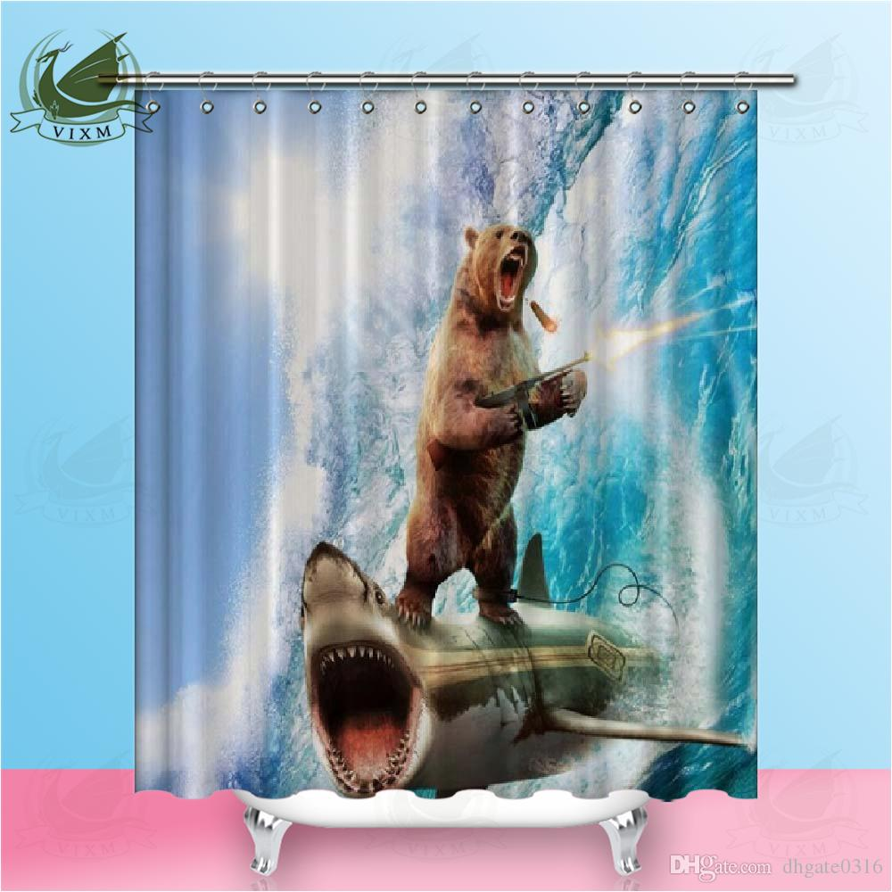 2019 Vixm Funny Cat Shower Curtain Blue Narwhal Nautical Decor Beach Theme Bathroom Waterproof From Dhgate0316 111