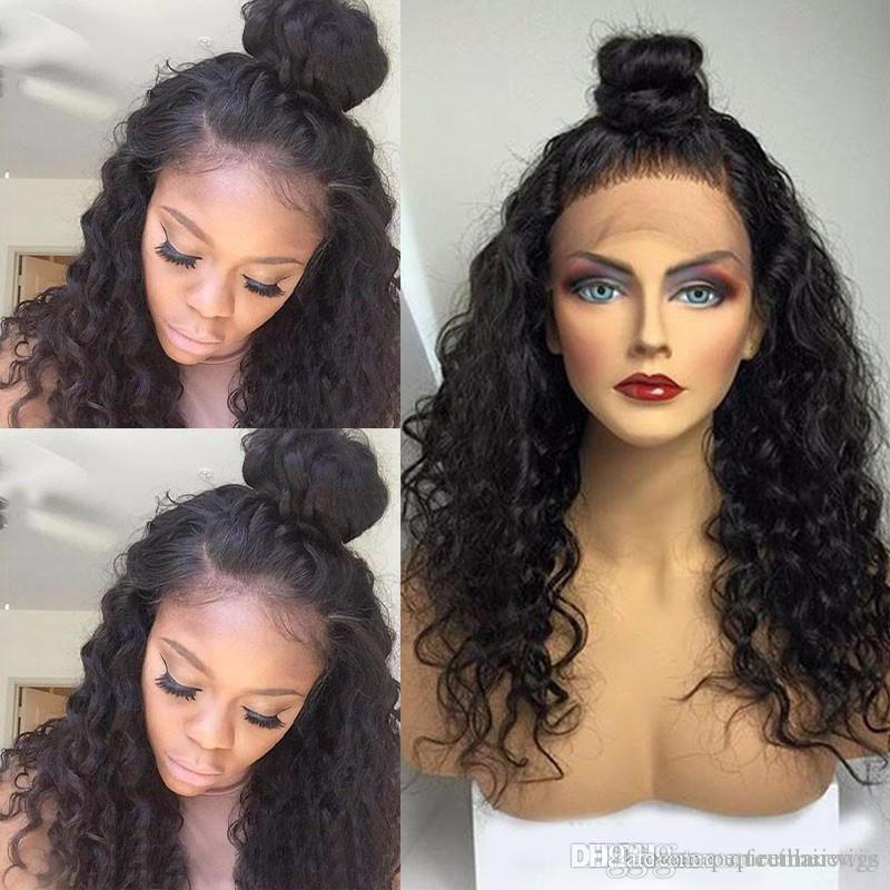 Short Loose Curly Synthetic Lace Front Wig Heat Resistant Afro Kinky Curly Glueless africa american wig FREE SHIPPING IN STOCK