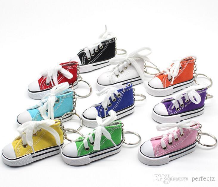 Commercio all'ingrosso i 3D novità tela portachiavi sneaker novità scarpe di tela portachiavi scarpe portachiavi titolare borsa ciondolo favori