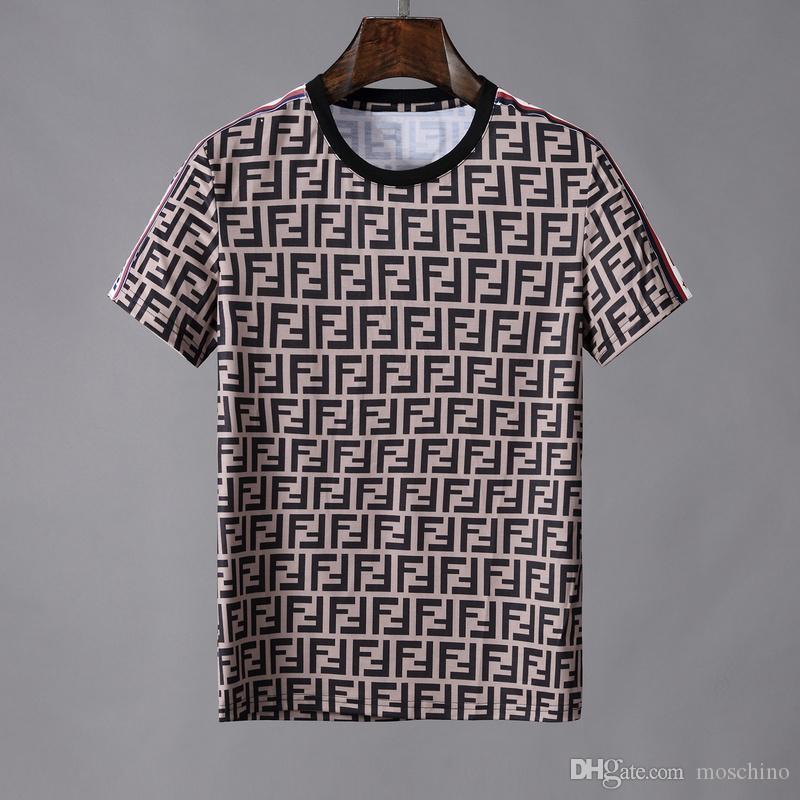 huge discount 862f7 f0e56 19ss ff Motivdruck Italien Designer FF roma T-SHIRT Herren Hemden Herren  Damen Kurzarm T-Shirt Tops Shorts Tee F916 Kleidung