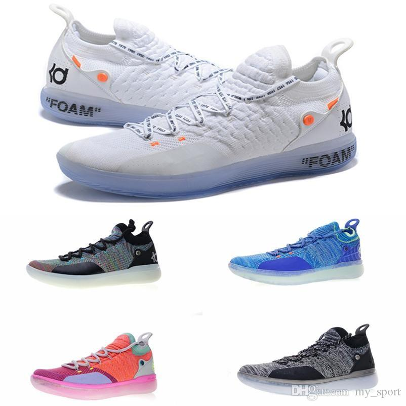 8e731ed06262 2019 New KD 11 EP White Orange Foam Pink Paranoid Oreo ICE Basketball Shoes  Original Kevin Durant XI KD11 Mens Trainers Sneakers Size7 12 Sneakers Men  Buy ...