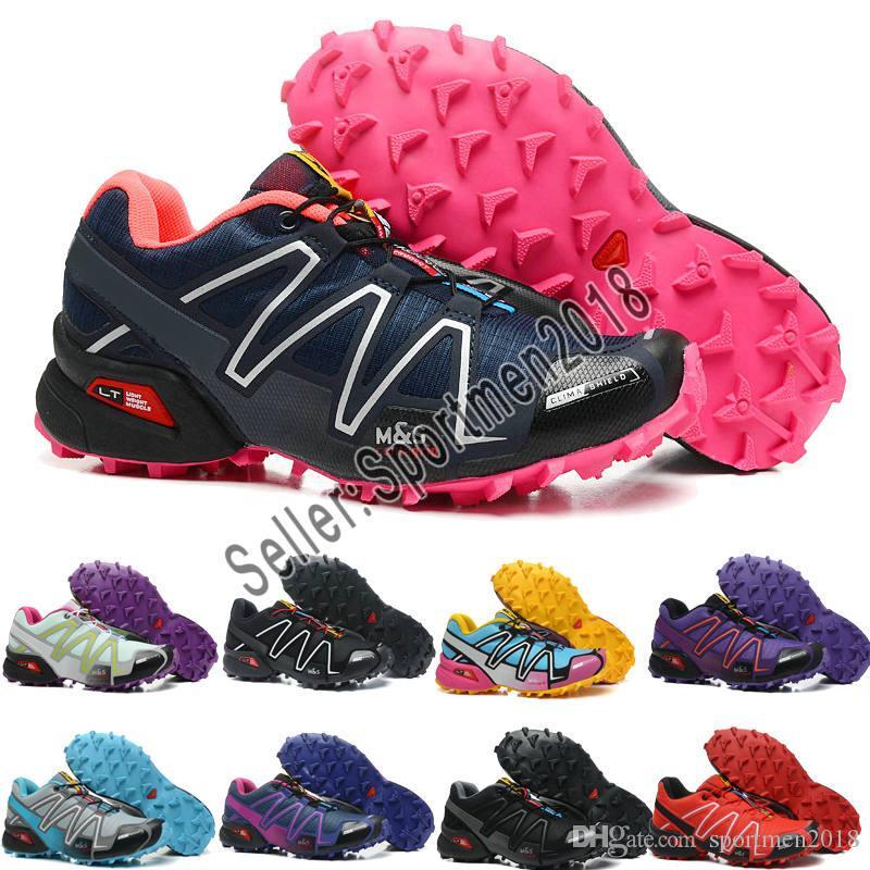 5896862810c Compre Salomon Venta Al Por Mayor 2017 Nuevo Solomon Zapatillas Speedcross  3 Zapatillas De Mujer Caminando Mujer Zapatos De Deporte Al Aire Libre  Zapatos ...