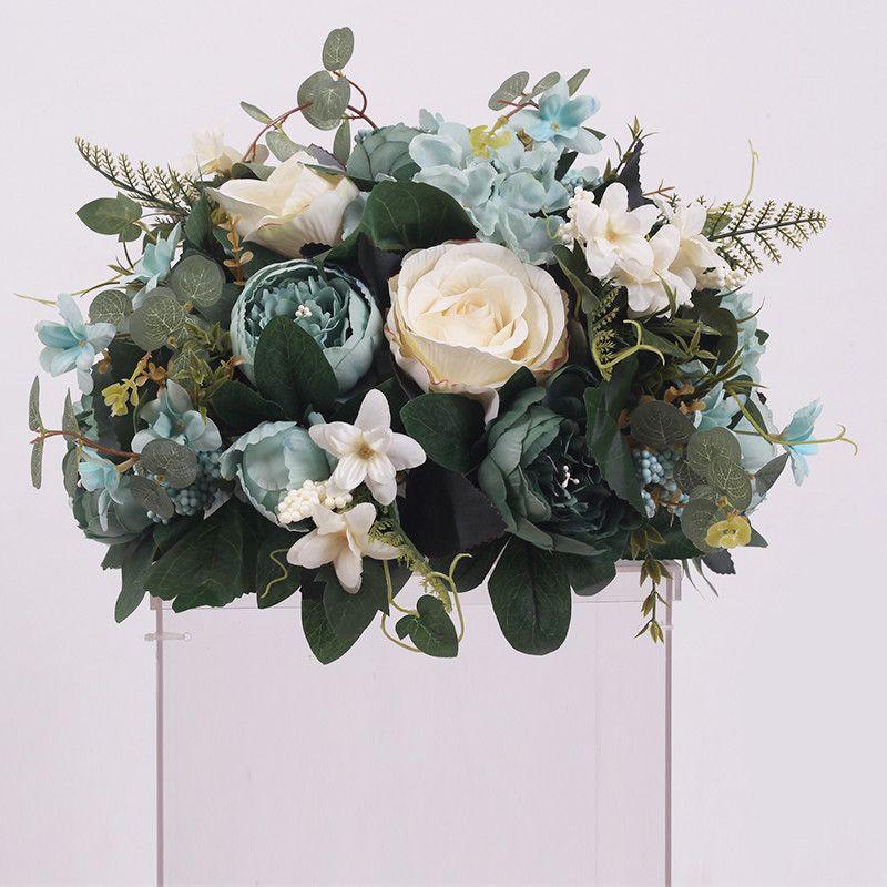 New Diy Wedding Table Centrepieces Artificial Flower Ball Backdrop Wedding Decor Road Lead Wall Hotel Shop Party Silk Flowers Bouquet