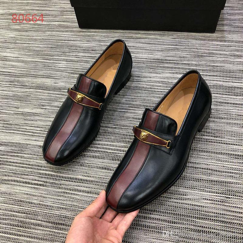 Men's Shoes Luxury Genuine Leather Casual Driving Oxfords Flats Shoes Mens Loafers Italian Shoes for Men Size 38-44