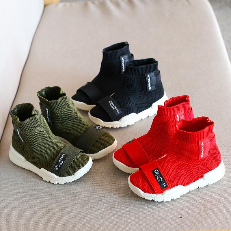5afab37d82f Compre Zapatos De Ocio Para Niños Nueva Moda Para Niños Zapatos Para Niños  Botas Altas Para Niños Zapatillas Deportivas Zapatillas Transpirables Pisos  De ...