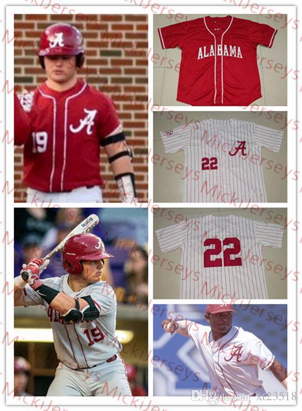 cf92335671b 2019 Custom Alabama Crimson Tide Baseball Jersey Brock Love John Trousdale  Daniel Carinci Kolby Robinson Kobe Morris Dylan Smith Alabama Jersey From  Xt23518 ...