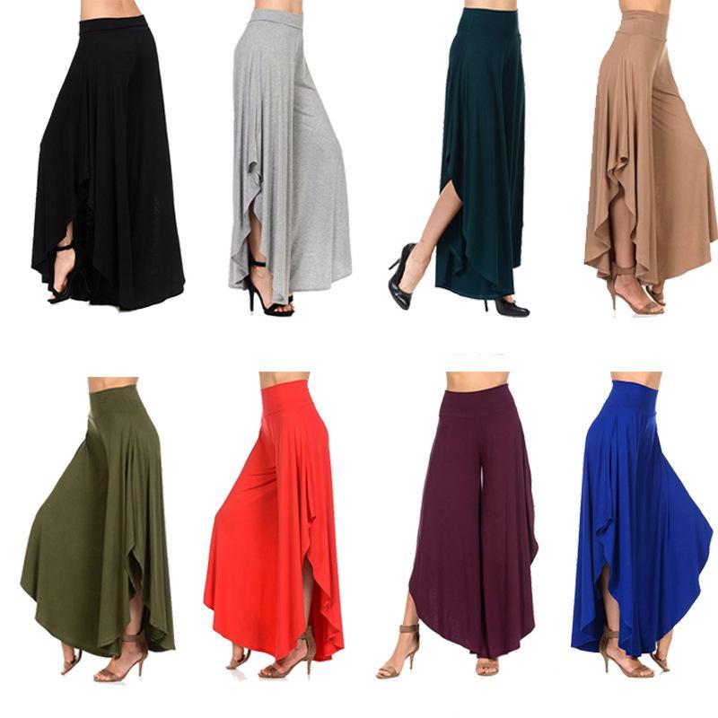 High Waist Dance Pants New Women Casual Harem Pants Club Wide Leg ... f98cf374aa67