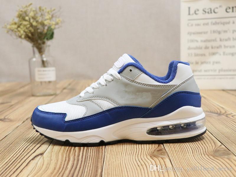 cheap for discount fd9a7 14f77 Compre 2018 Recién Llegado 93 Zapatos Deportivos Para Correr Para Hombre De Alta  Calidad Blanco Azul Rojo Chaussures Moda Para Correr Zapatillas De Deporte  ...