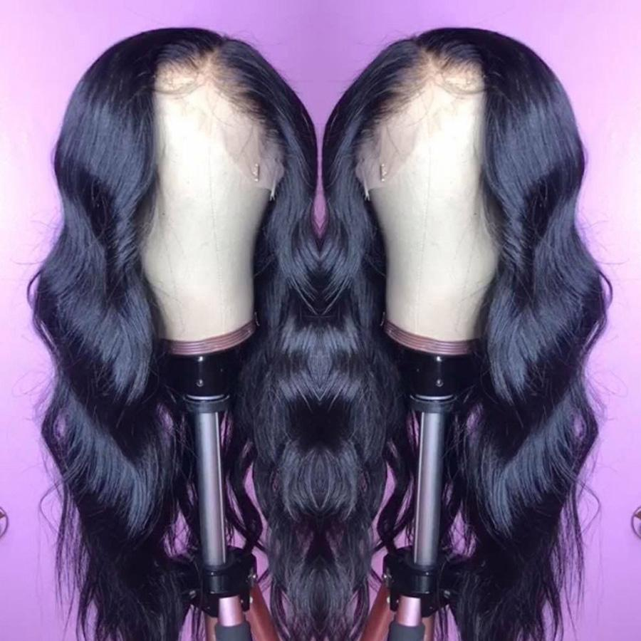 Raw Indian Virgin Hair Body Wave Lace Front Human Hair Wig Wholesale 13x6 Lace Frontal Wigs Indian Body Wave Hair Free Drop Shipping