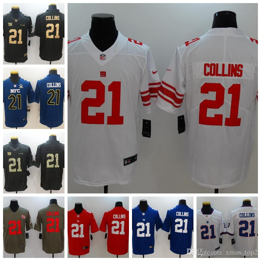 watch dd046 d490e 2019 Mens 21 Landon Collins New York Giants Football Jersey 100% Stitched  Embroidery Giants Landon Collins 21 Color Rush Football Shirts