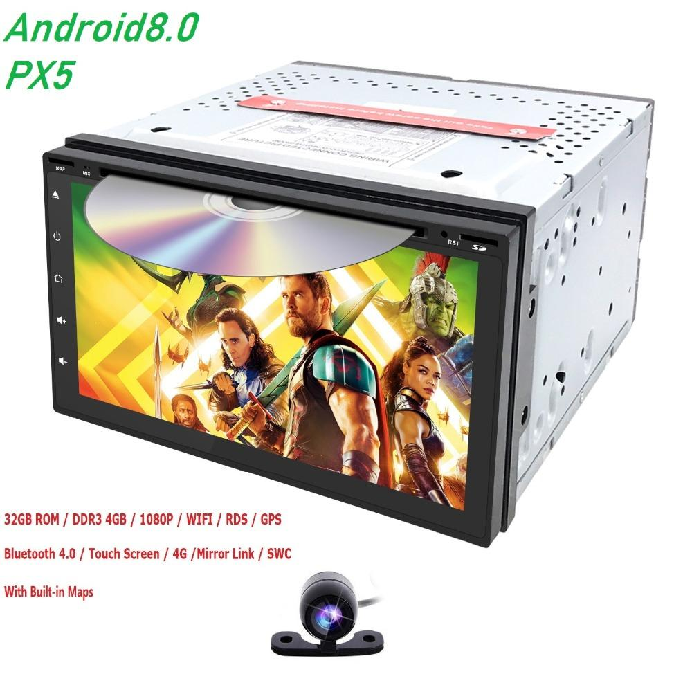 4G RAM 32G ROM Android 8 0 7 INCH 2 Din universal Car Radio Stereo DVD  Player GPS Navigation map 8 Octa Core BT WIFI DAB SWC