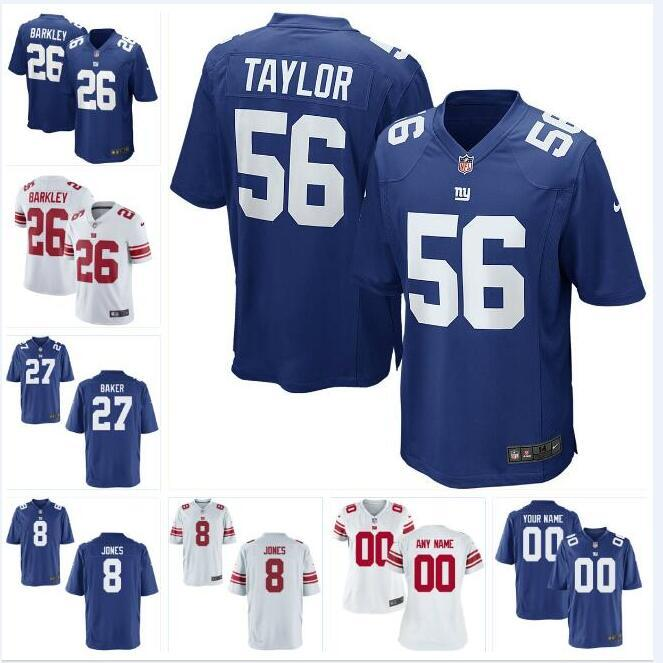 newest fe460 cf48b 27 Deandre Baker Saquon Barkley NY Giants Jersey Daniel Jones Dexter  Lawrence George Asafo-adjei custom american football jerseys First time